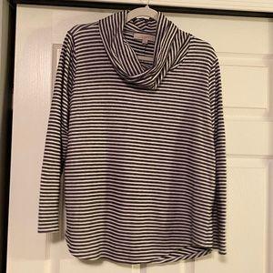 LOFT 3/4 sleeve cozy top with cowl neck